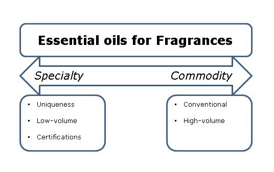Segmentation for essential oils for fragrances