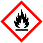 Hazard sign fire