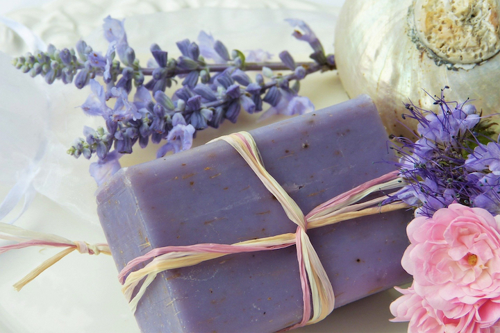 Soap bar made with natural ingredients