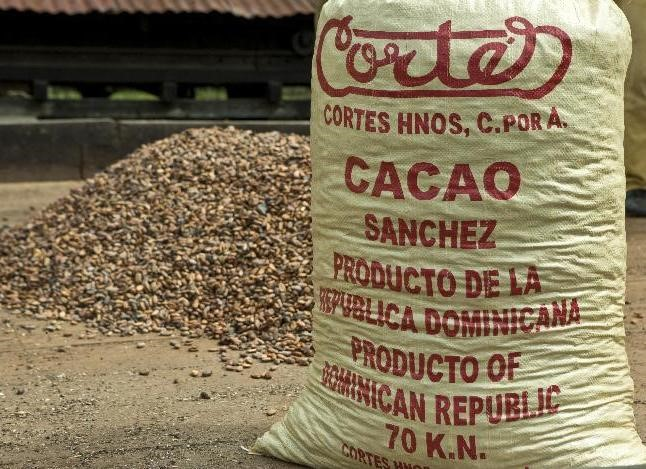 An example of cocoa bean labelling