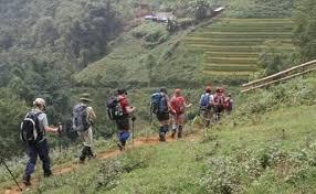 Trekkers in the hills