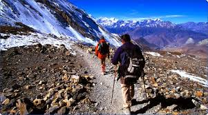 Trekkers in the mountains